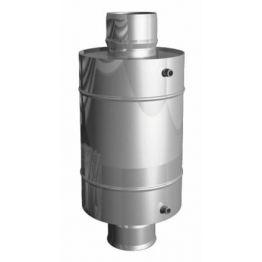 Бак выносной для теплообменника, 60 л, 0,8 мм, горизонтальный, нержавейка (штуцер 3/4)