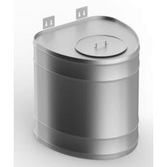 Бак выносной для теплообменника, 80 л, 0,8 мм, вертикальный, нержавейка зеркальная (штуцер 3/4)