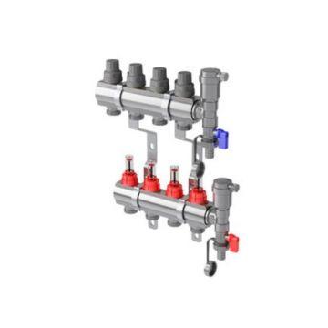 Коллекторная группа RoyalThermo RTE 52.012 1 на 12 контуров, с расходомерами