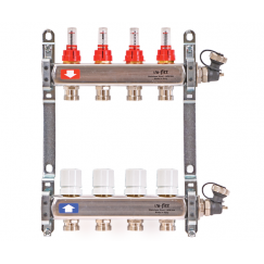 Коллекторная группа Uni-Fitt 32415s060508 8 вых 1х3/4 с расходомерами, нерж.сталь