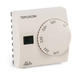 Термостат комнатный Teplocom TS-2AA/8A, проводной, реле 250В, 8А