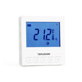 Термостат комнатный Teplocom TS-Prog- 220/3A, проводной, прогр., реле 250В, 3А