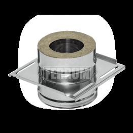 Монтажная площадка утепленная — К — 115 / 200 — нерж 1 мм / нерж 0,5 мм