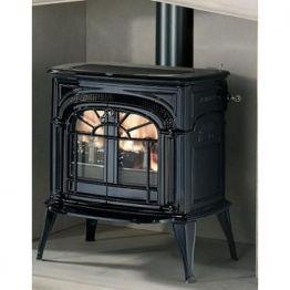 Печка чугунная INTREPID II дровяная, с катализатором, цвет Черный