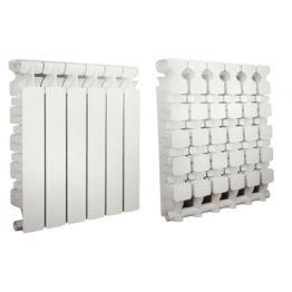 Радиатор GENIALE 500/80 алюм. белый  4 секц.